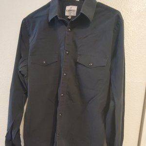 Mens Fitted Express Button Up Shirt